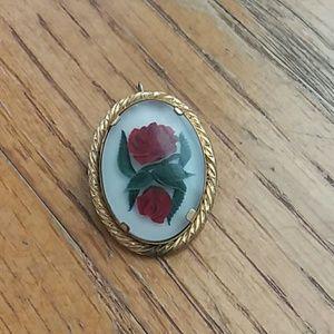 Vintage Rose Brooch & Pendant